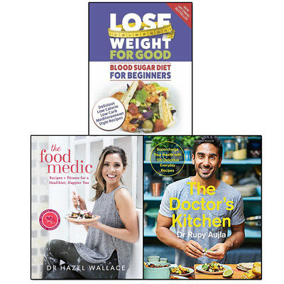 Doctor's Kitchen, Food Medic and Blood Sugar Diet Collection 3 Books Set NEW