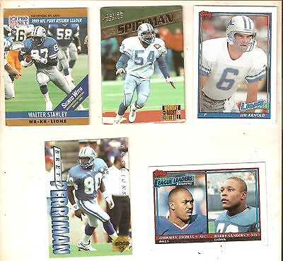 NFL 10 Tradinding Cards Detroit Lions  Guter Zustand