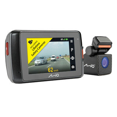 "Mio MiVue 698 Dual 2.7"" DVR SuperHD Front-Rear Dash Camera GPS Accident Recorder"