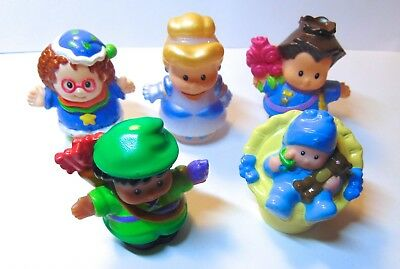 Lot of 5 Fisher Price Little People - Girls Boys - All Different