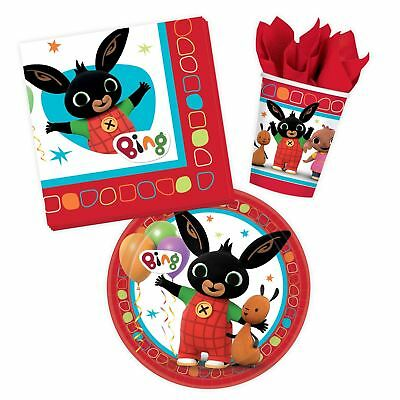 Bing Bunny Party Tableware Set Picnic Table Childrens Girls Boys Easter Birthday