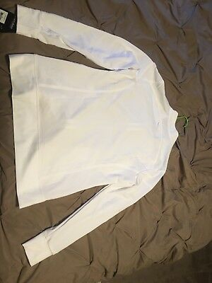 White Cherokee iflex Zip Front Warm Up Scrub Jacket with Tags