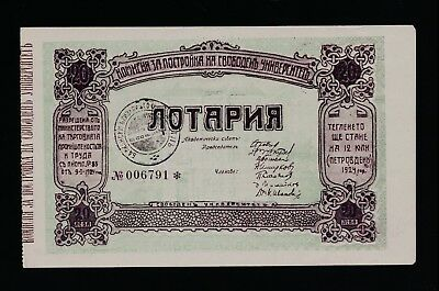 Bulgaria University Construction lottery 1924