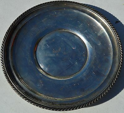 "ESTATE GORHAM STERLING SILVER PLATE or TRAY-323-9.75"" NO MONO-UNDERPLATE"