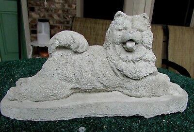 CONCRETE CHOW DOG STATUE,MEMORIAL, or PET GRAVE MARKER