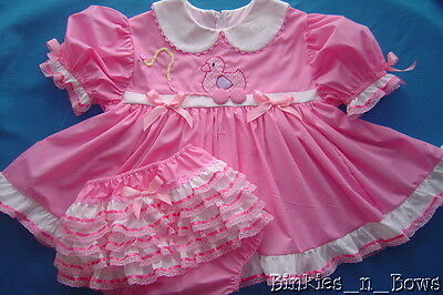 Adult Baby Sissy PINK Pull Toy Ducky Dress Set Binkies_n_Bows