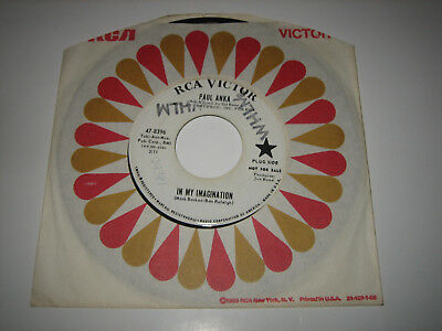 """7"""" Paul Anka: In My Imagination / It's Easy To Say - USA RCA 47-8396 PROMO"""