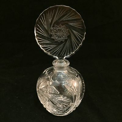 Beautiful Etched Glass Perfume Scent Bottle $50