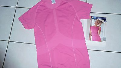 2 Pc Fitness Lot Turquoise & Pink Seamless Workout Shirts Running,yoga,gym New!!