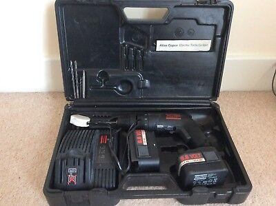 Atlas Copco 9.6V Cordless Drill 2 batteries and Charger In Original Case