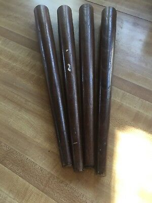 "Set Of 4 Mid Century Modern 14"" Tapered Wood Table Legs Vintage Furniture"