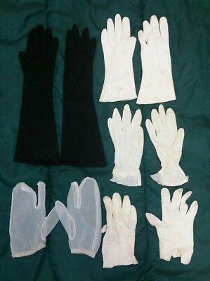 Lot of 5 Pairs of Vintage Womens GLOVES