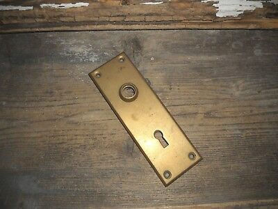 Vtg Heavy Cast Small Brass Door Knob Back Plate Steampunk Arts/crafts Pinterest