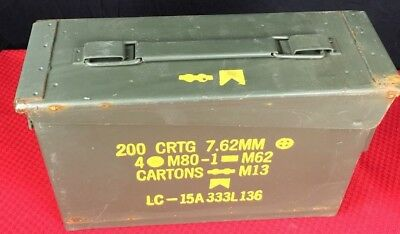 M19A1 30 cal 7.62mm US Army Surplus Ammo Can