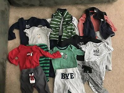 Lot (16pieces) 9 Month Boy Outfits —-Carters