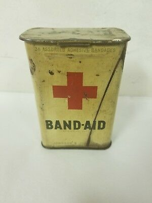 Vintage Look First Aid Band -Aid Can