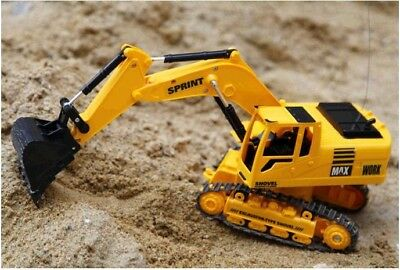 RC Tractor Bulldozer Crawler Toy Digger 8 Channel Remote Control Excavator Truck
