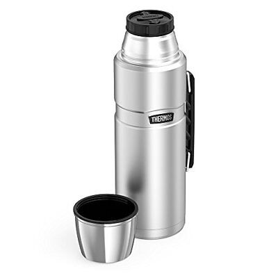 Thermos Durable Stainless Steel King 68 Ounce Vacuum Insulated Beverage Bottle