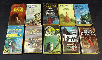 Vintage Paperback PB 10 Book Lot Gothic Mystery Murder Romance Intrigue Suspense