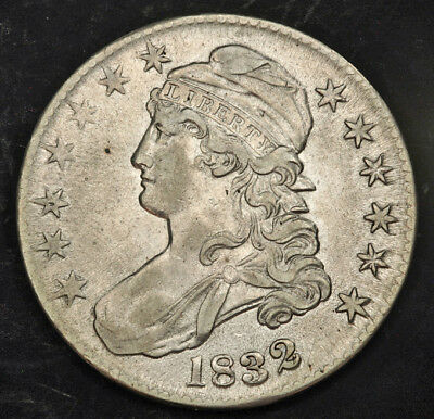 1832, United States. Early Silver Capped Bust Half Dollar (50 Cents) Coin.XF-AU!