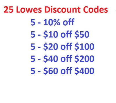 $10 off $50 Lowes Discount Codes PLUS MORE - 25 Codes!