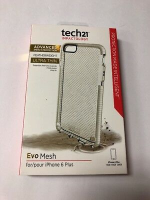 Tech21 Impactology Featherweight Ultra Thin EVO Mesh iPhone 6+ Plus WHITE Case