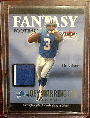 2002 Fleer Premium Joey Harrington Fantasy Football Jersey Card