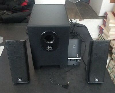 Logitech X-240 Computer Speakers 2.1 Surround Sound with Subwoofer & Satellites