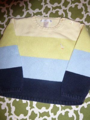 Janie and Jack Boys 3T Spring Best Colorblock Stripe Sweater Pullover Crewneck