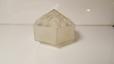 Vintage Light Globe Art Deco Architectural Salvage Hexagon Mid Century