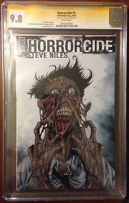 Horrorcide 1 (2004) Cgc 9.8 Ss Signed Steve Niles Josh Medors Cover Zombies