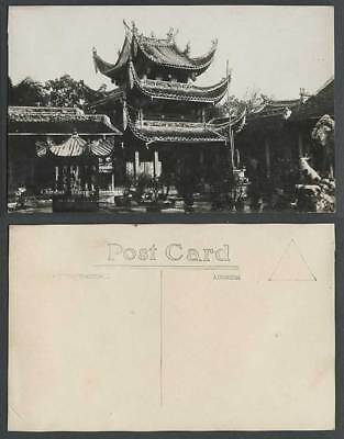 Singapore Old Real Photo Postcard Chinese Temple and Furnace Straits Settlements