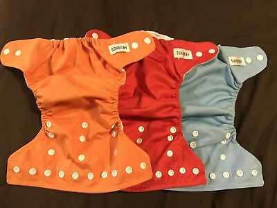 8 Sunbaby Cloth Diapers