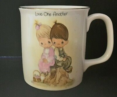 Precious Moments Love  One Another Coffee Mug by ENESCO 1983