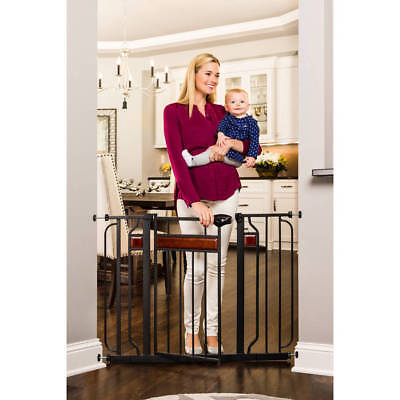 Extra Wide Pet Baby Toddler Child Proof Metal Safety Easy Open Walk Thru Gate