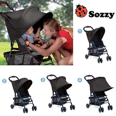 1pc black UV block 99% UV kids baby stroller sun shade cover adjustable canopies