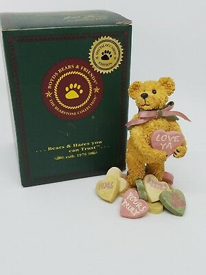 "Boyds Bears ""Andy B. Truelove"" Romance Valentine Day #82020 Candy Hearts"