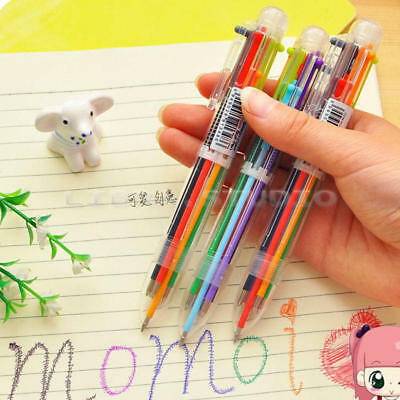 Multi-color 6 in 1 Color-Ballpoint Pen Ball Point Pens Kids School Office Supply