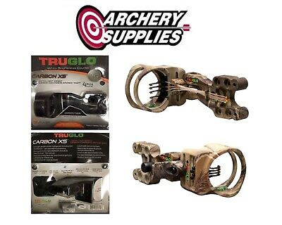 Truglo Carbon XS Sight 4 Pin with Light 19 Sight - CAMO