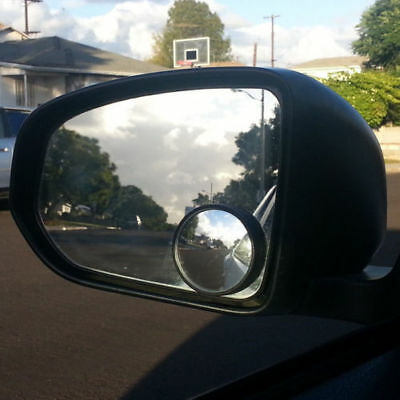 2X Wide Angle Convex Car Blind Spot Round Stick-On Side View Rearview Mirror