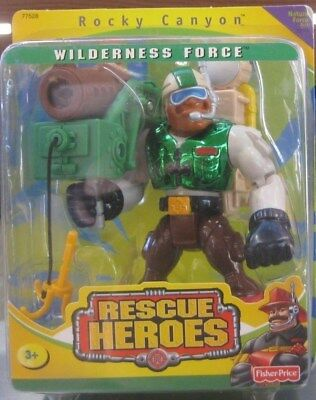 Fisher Price-Rescue Heroes, Wilderness Force, Rocky Canyon **mint 2000.