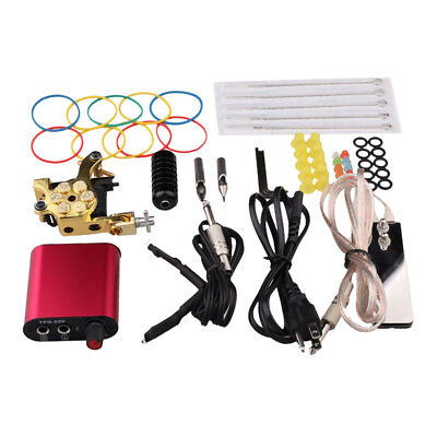 Professional Complete Tattoo Kit Rubber Bands Rubber O-Ring Ink Cup Holder