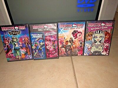 MONSTER HIGH 5 DVD Movies 13 WISHES - NEW GHOUL AT SCHOOL - FRIDAY NIGHT FRIGHTS
