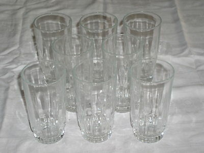 "Set of 8 Arcoroc 12oz LANCER Pattern 5-3/8"" Iced Tea Tumblers"