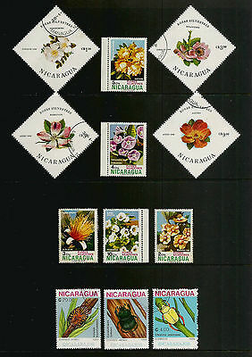 NICARAGUA - mixed collection No.5, 1974 1986 1988