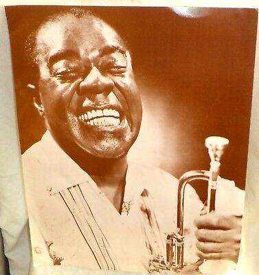 """Louis Armstrong Publicity Print Signed To Mike A Good Friend Satch 11"""" x 14"""""""