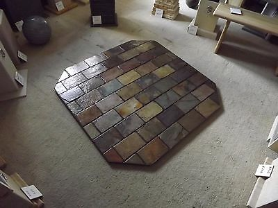 Fireplace hearth for wood heater made of slate stone tiles 1010 deep x1210 wide