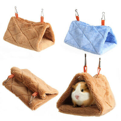 Bird Parrot Warm Plush Hammock Warm Hanging Cage Cave Hut Tent Bed Toy Bunk Pad