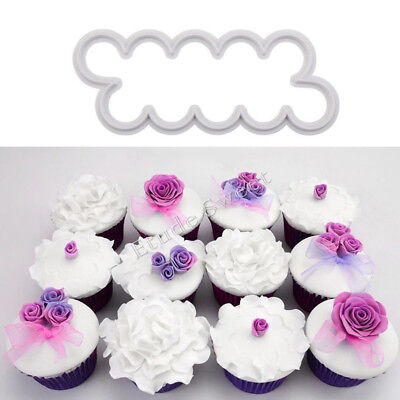 Rose Petal Cake Cutter 3pc 3D Fondant Icing Tool Sugarcraft Decorating Mould