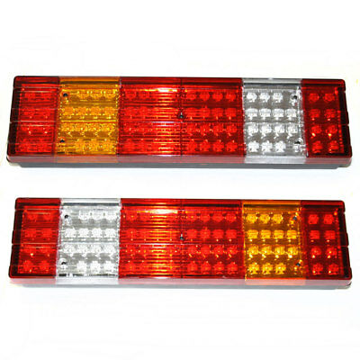 46 LED REAR Tail Lights Truck Lorry Fits Scania Volvo Daf Man Iveco